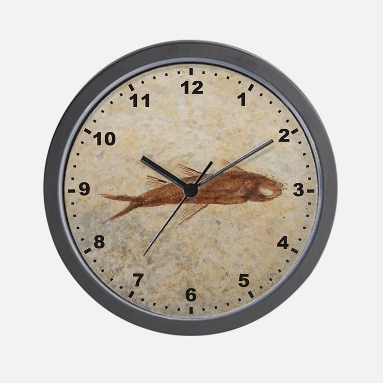 Fossil Fish Wall Clock