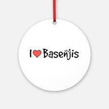 I heart Basenjis Ornament (Round)