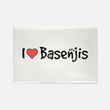 I heart Basenjis Rectangle Magnet