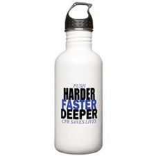 Harder Faster Deeper Water Bottle