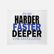 Harder Faster Deeper Throw Blanket