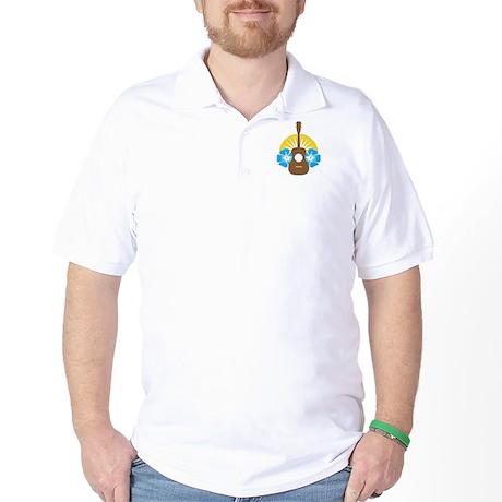 Ukulele Hibiscus Golf Shirt