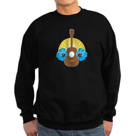 Ukulele Hibiscus Sweatshirt (dark)