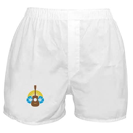 Ukulele Hibiscus Boxer Shorts