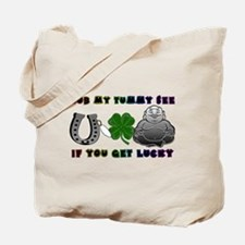Rub my tummy see if you get l Tote Bag