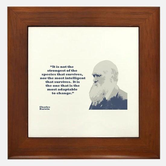 Darwin - Species Framed Tile