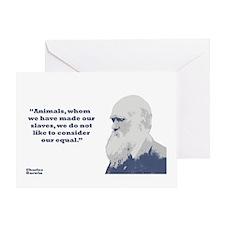 Darwin - Animals Greeting Card
