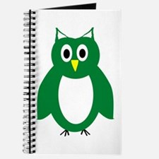 Green And White Owl Design Journal