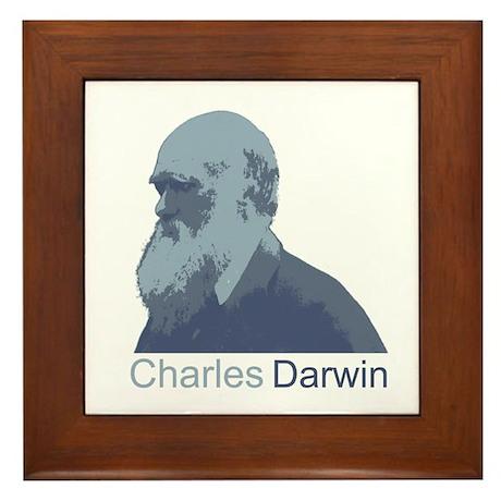 Charles Darwin Framed Tile