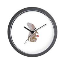 Painted Squirrels (red) Wall Clock