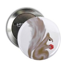 """Painted Squirrels (red) 2.25"""" Button"""