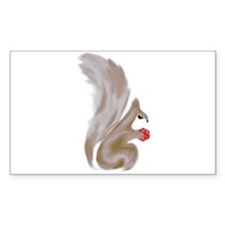 Painted Squirrels (red) Decal