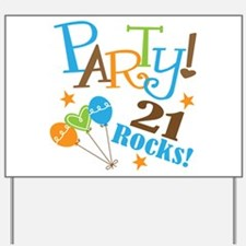 21 Rocks 21st Birthday Yard Sign