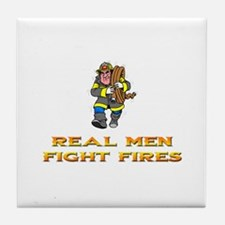 CHICAGO FIREFIGHTER Tile Coaster
