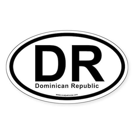 DR - Dominican Republic Sticker (Oval)