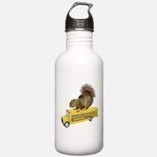 Squirrel on School Bus Water Bottle