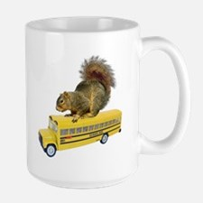 Squirrel on School Bus Mug