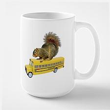 Squirrel on School Bus Mug