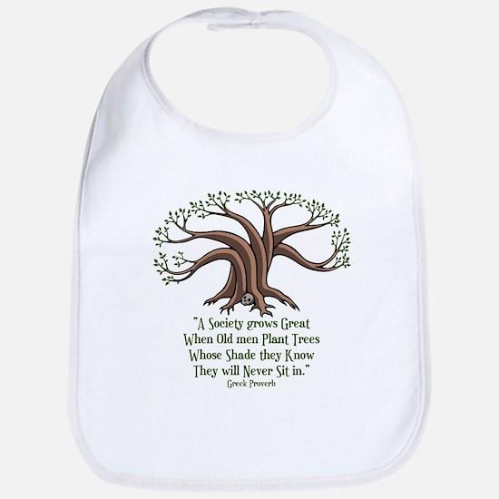 Greek Trees Bib