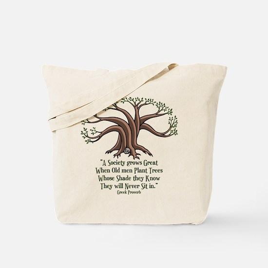 Greek Trees Tote Bag