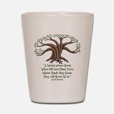 Greek Trees Shot Glass