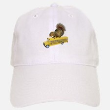 Squirrel on School Bus Baseball Baseball Cap