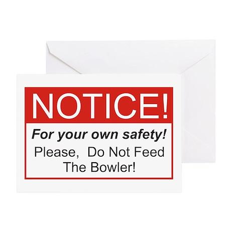Bowler / Feed Greeting Card