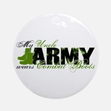 Uncle Combat Boots - ARMY Ornament (Round)