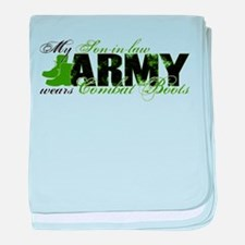 Son Law Combat Boots - ARMY baby blanket