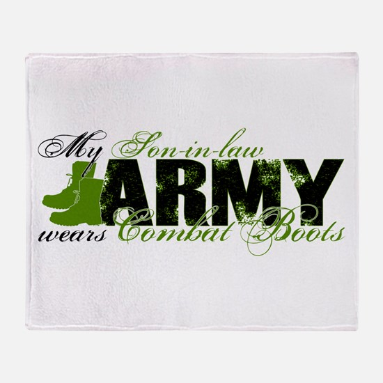 Son Law Combat Boots - ARMY Throw Blanket