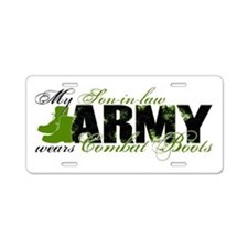 Son Law Combat Boots - ARMY Aluminum License Plate