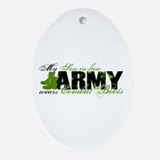 Son Law Combat Boots - ARMY Ornament (Oval)
