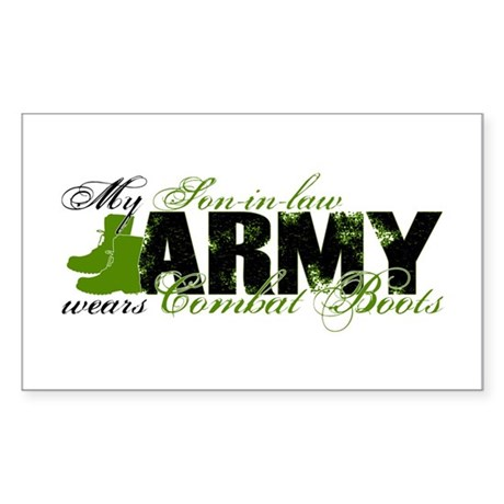 Son Law Combat Boots - ARMY Sticker (Rectangle)