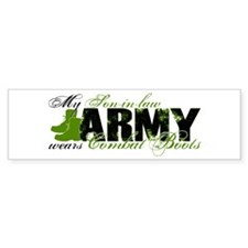 Son Law Combat Boots - ARMY Bumper Sticker