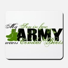 Son Law Combat Boots - ARMY Mousepad
