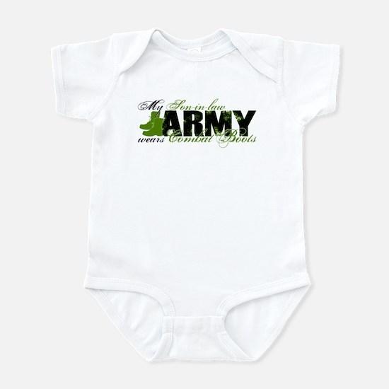 Son Law Combat Boots - ARMY Infant Bodysuit