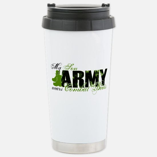 Son Combat Boots - ARMY Stainless Steel Travel Mug