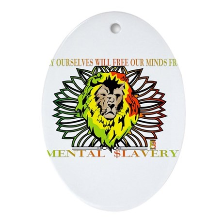 Rasta Lion Ornament (Oval)