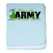 Sis Law Combat Boots - ARMY baby blanket