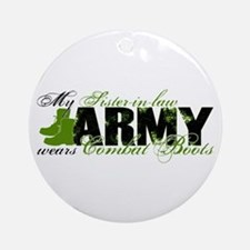 Sis Law Combat Boots - ARMY Ornament (Round)