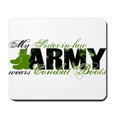 Sis Law Combat Boots - ARMY Mousepad