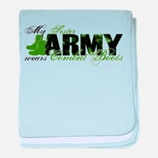 Sister Combat Boots - ARMY baby blanket