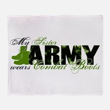 Sister Combat Boots - ARMY Throw Blanket