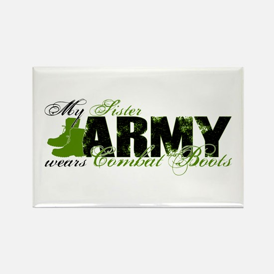 Sister Combat Boots - ARMY Rectangle Magnet