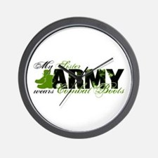 Sister Combat Boots - ARMY Wall Clock