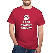 Dogs Against Mitt Romney 3 T-Shirt