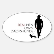 Real Men Own Dachshunds Decal
