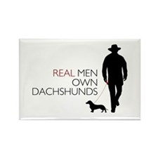 Real Men Own Dachshunds Rectangle Magnet