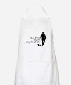 Real Men Own Dachshunds Apron