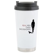 Real Men Own Dachshunds Travel Coffee Mug